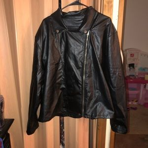 Shein Leather jacket-4xl
